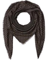 Alexander McQueen Embellished Wool Silk Scarf