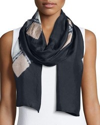 Eileen Fisher Emblems Silk Shibori Scarf