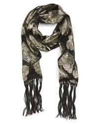 Saint Laurent Fringe Chain Silk Skinny Scarf