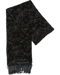 The Kooples Fringed Jacquard Viscose Silk Scarf
