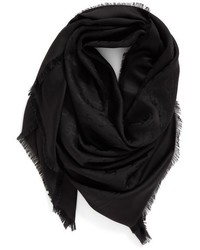 Marc Jacobs Monogram Silk Wool Jacquard Scarf