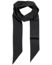 H&M Narrow Scarf Black Ladies