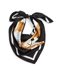 Moschino Paper Doll Bear Silk Scarf