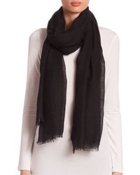 Saks Fifth Avenue Collection Fringed Cashmere Silk Scarf