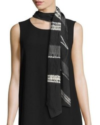 Eileen Fisher Silk Shibori Architecture Scarf