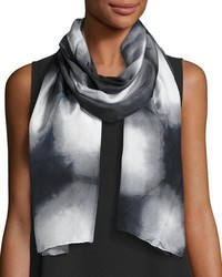 Eileen Fisher Silk Shibori Awakenings Scarf Black