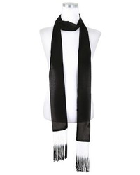 Skinny Scarf With Fringe