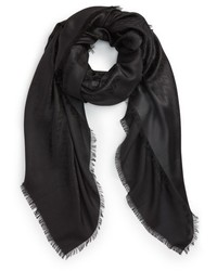Valentino Viva Wool Silk Fringe Scarf