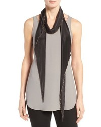 Eileen Fisher Whisper Silk Beaded Scarf