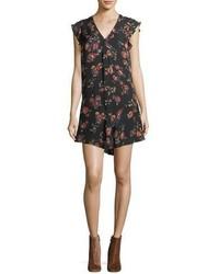 Joie Almarie B V Neck Silk Shift Dress