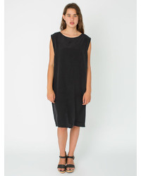 American Apparel Washed Silk Mid Length Shift Dress