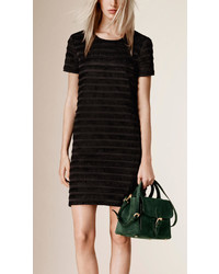 Burberry Fringe Cotton Silk Shift Dress