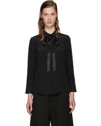 Marc Jacobs Black Silk Tie Shirt
