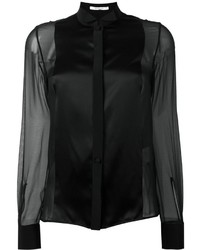Givenchy Sheer Contrast Panel Shirt