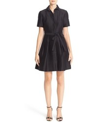Belted silk shirtdress medium 834636