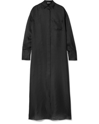 The Row Siena Oversized Silk Organza Maxi Dress