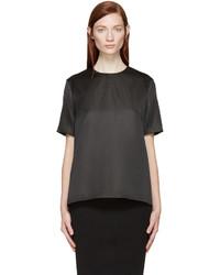 Black silk blouse medium 369889
