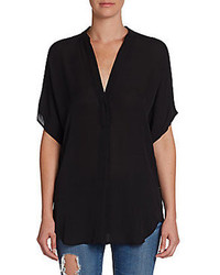 V neck silk chiffon blouse medium 87498