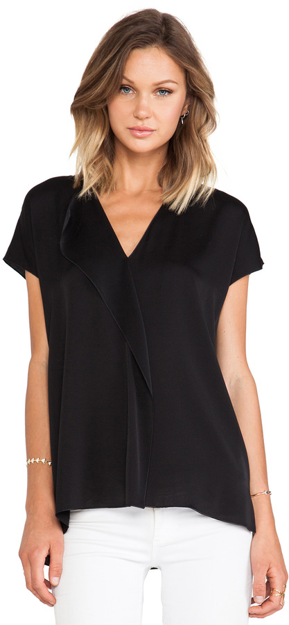 Vince Cascade Short Sleeve Blouse | Where to buy & how to wear