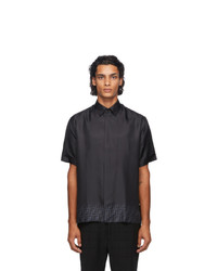 Fendi Black Silk Forever Short Sleeve Shirt