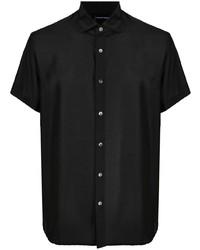 Emporio Armani Silk Blend Short Sleeve Shirt