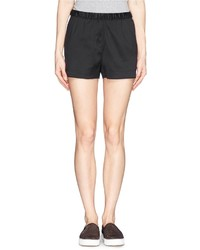 Alexander Wang T By Cotton Poplin Insert Silk Twill Shorts