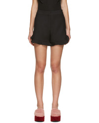 Fendi Black Ruffled Shorts