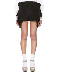 Fendi Black Scalloped Shorts