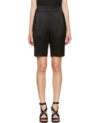 Givenchy Black Silk Bermuda Shorts