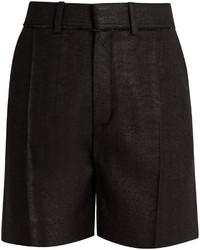 Chloé Chlo Raw Edge Silk Shorts