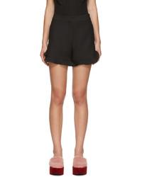 Fendi Black Ruffled Shorts