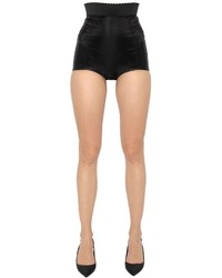 Dolce & Gabbana High Waisted Silk Charmeuse Shorts