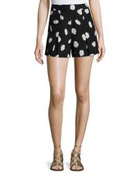 Kate Spade New York Daisy Dot Silk Blend Shorts Black