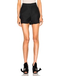 Fendi Light Wool Silk Gazar Ruffle Shorts