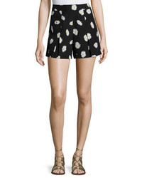 Kate Spade New York Daisy Dot Silk Blend Shorts Black