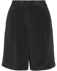 Tibi Pleated Silk Crepe De Chine Shorts