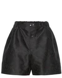 Miu Miu Silk Blend Jacquard Shorts