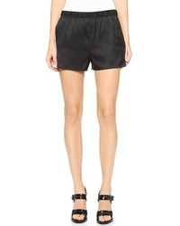 Alexander Wang T By Stretch Silk Twill Shorts
