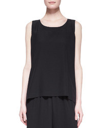 eskandar A Line Silk Shell Black