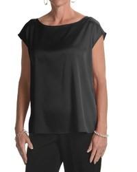August Silk Charmeuse Wedge Shirt Sleeveless