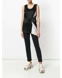 T by Alexander Wang Contrast Panel Wrap Tank Top