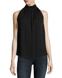 Erola sleeveless silk top black medium 4983691