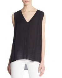 Vince Picot Trim Silk Top