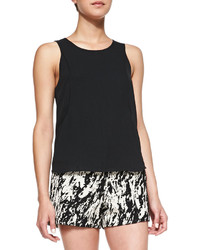 Rag and Bone Rag Bone Lydia Silk Jersey High Low Top