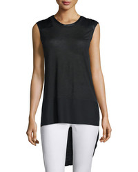 Rag & Bone Riley Sleeveless Silk Blend Top Black