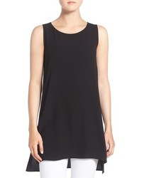 Eileen Fisher Silk Crepe Scoop Neck Sleeveless Tunic