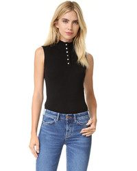 Frame Sleeveless Rib Top