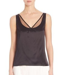 Marc Jacobs Sleeveless Silk V Neck Top
