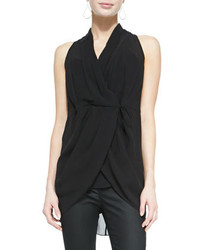 Eileen Fisher Sleeveless Silk Wrap Top