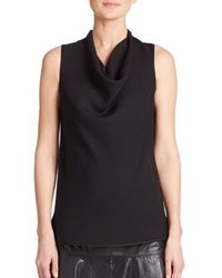 Lafayette 148 New York Trish Cowlneck Silk Blouse